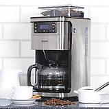Кавоварка на 12 чашок, автоматичний 24-годинний таймер, функція підтримки тепла, кофемолка,, фото 7