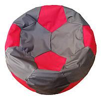 """Бескаркасное кресло """"Мяч"""" ТМ Лежебока Серый с красным"""