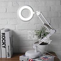 Лампа лупа настольная LED МТ 305 с подсветкой