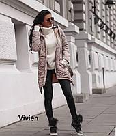 Стильная стеганая женская теплая куртка Норма и Батал