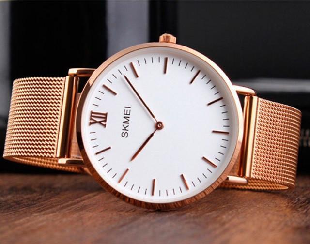 Оригинальные женские часы Skmei Cruizei 1182 Золотые