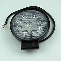 Фара LED круглая 27W (широкий луч), фото 1