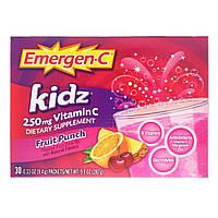 Витамин С (фруктовый пунш для детей), Emergen-C Kidz, Alacer, 276 г