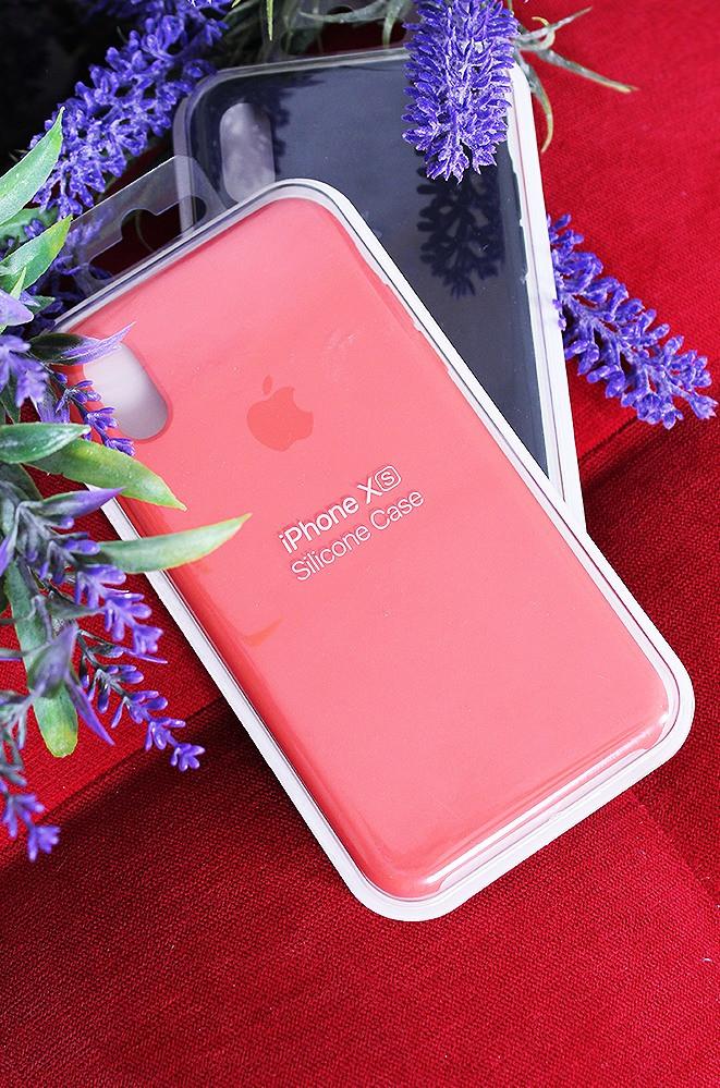Чехол для телефона iPhone Xs кораловый