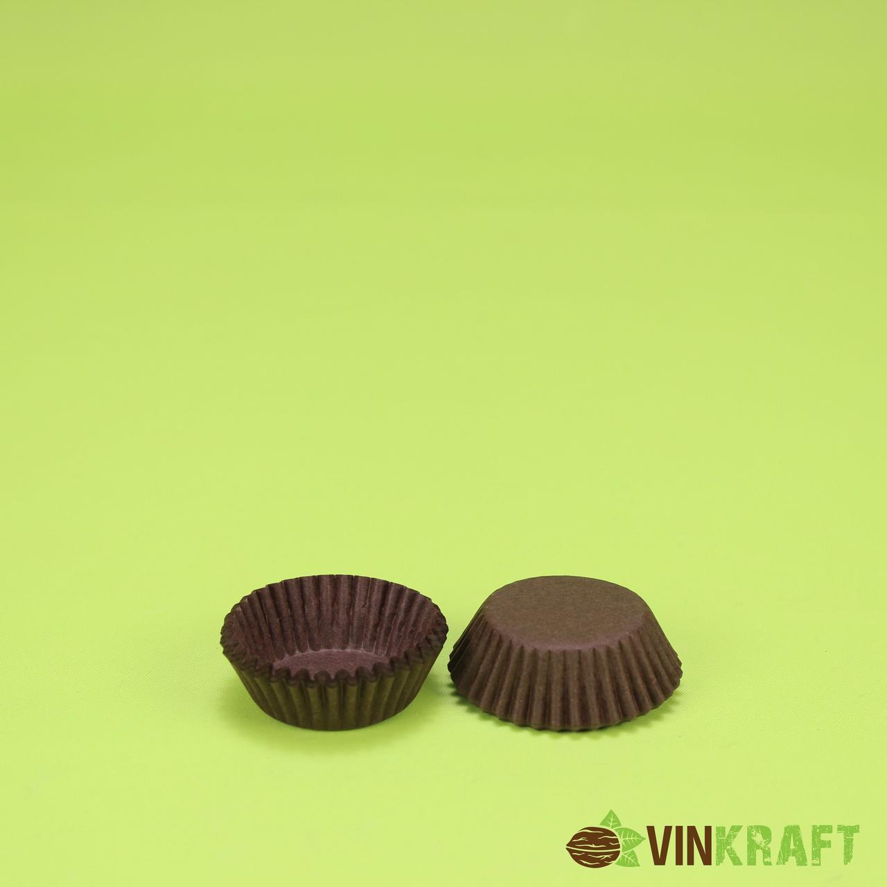 Паперова форма для цукерок 3d (30х16), коричнева