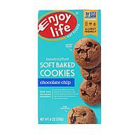 Enjoy Life Foods, Нежные запеченные батончики, с шоколадными чипсами, 5 батончиков, 1.2 унций (34 г) каждый