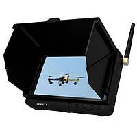 """FPV монитор rc приемник видеосигнала от беспроводных камер на 5.8 Ггц TE981H c 5"""" экраном для квадрокоптера и авиамоделей"""