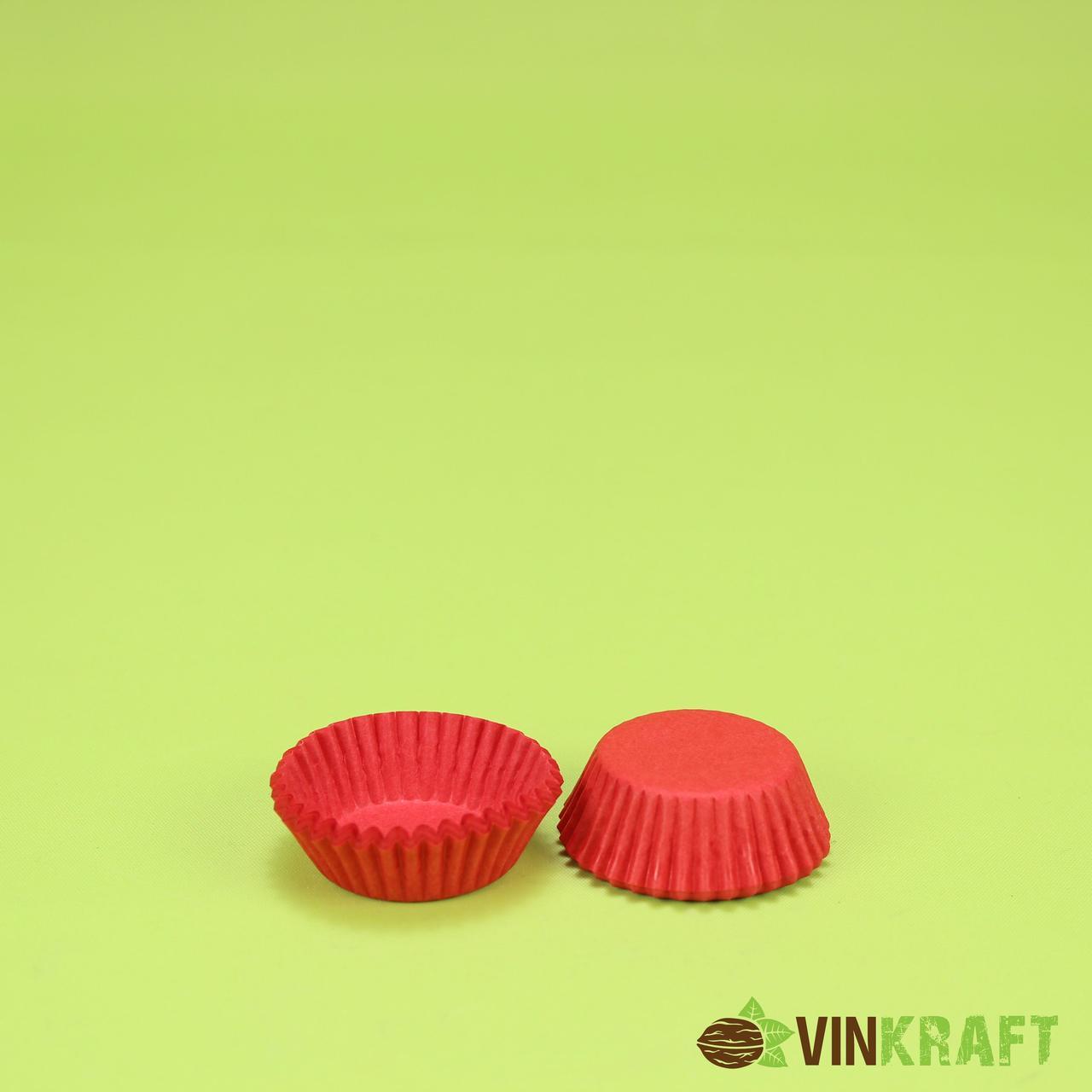 Паперова форма для цукерок 3d (30х16), червона