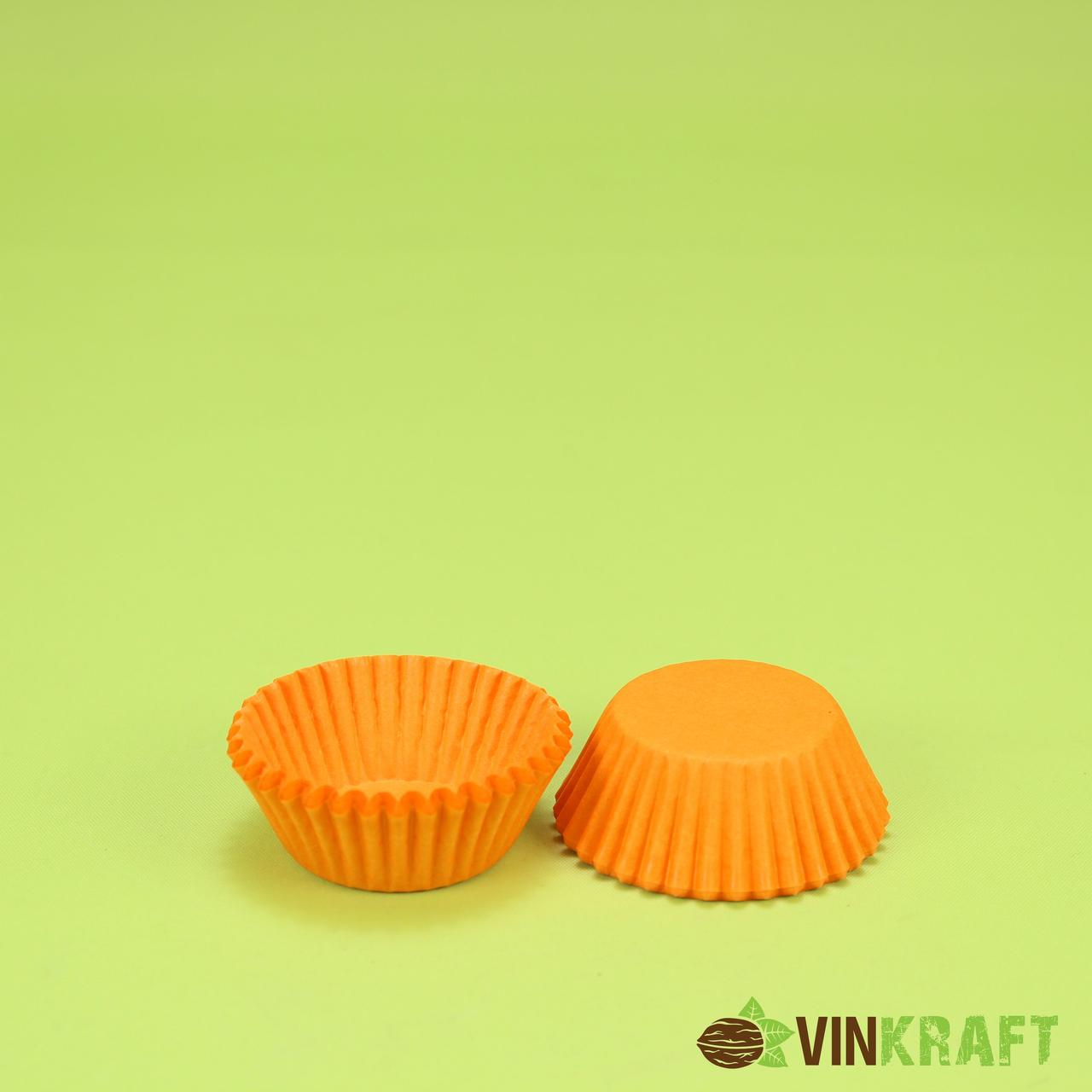 Паперова форма для цукерок 4 (35х21,5), помаранчева