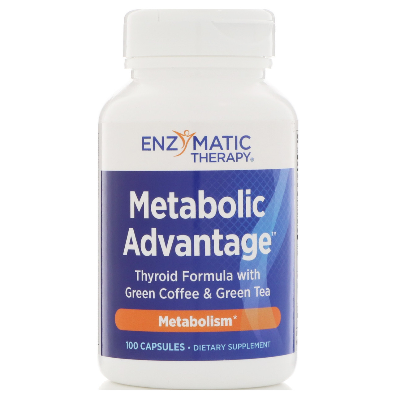 Підтримка щитовидної залози, Metabolic Advantage, Enzymatic Therapy, 100 кап.