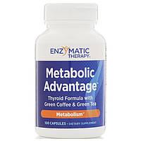 Підтримка щитовидної залози, Metabolic Advantage, Enzymatic Therapy, 100 кап., фото 1