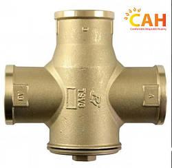 Трехходовой термостатический смесительный клапан  TSV5 (55С) -1 1/4    для твердотопливного котла САН