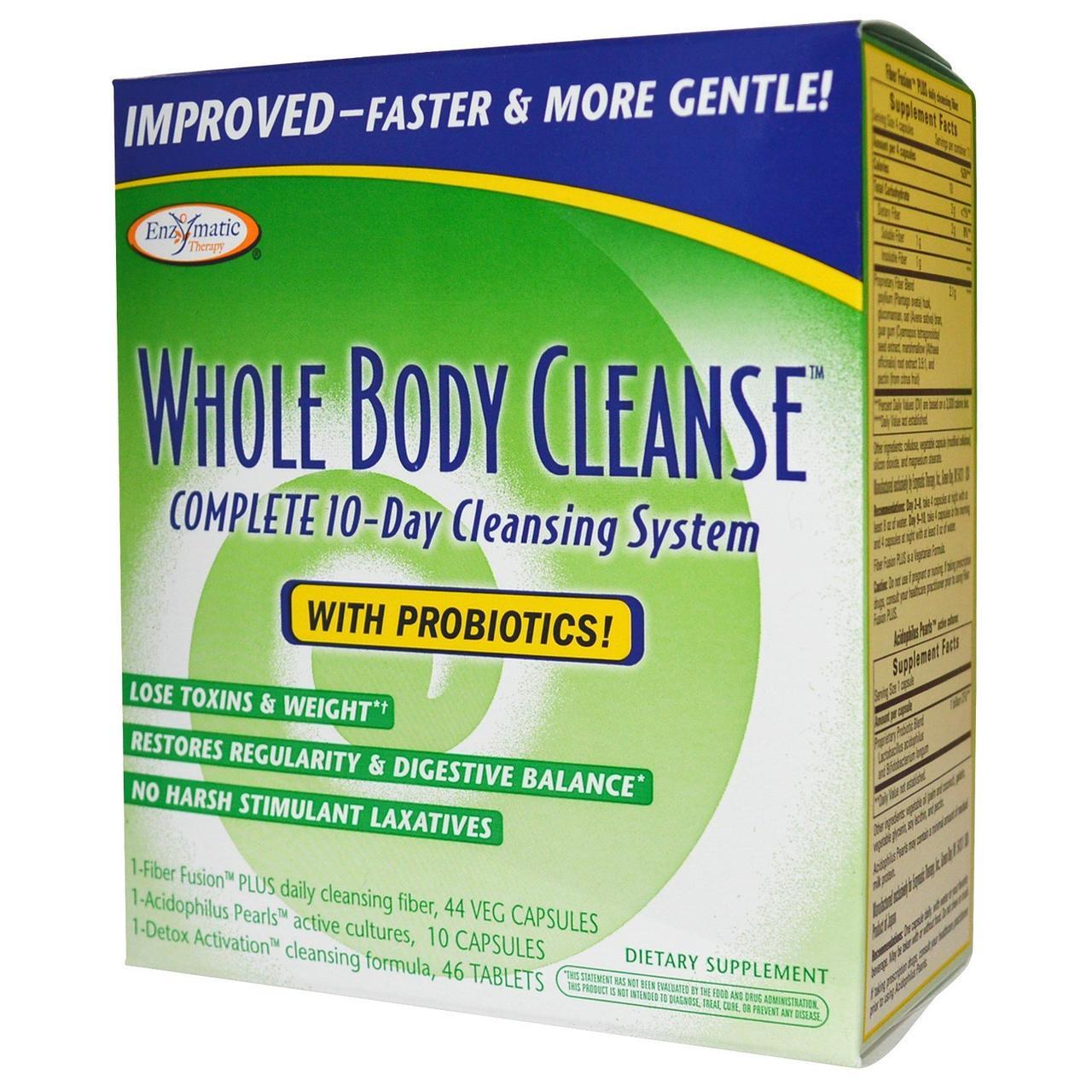 Очищение организма с пробиотиками, Enzymatic Therapy 10 дней