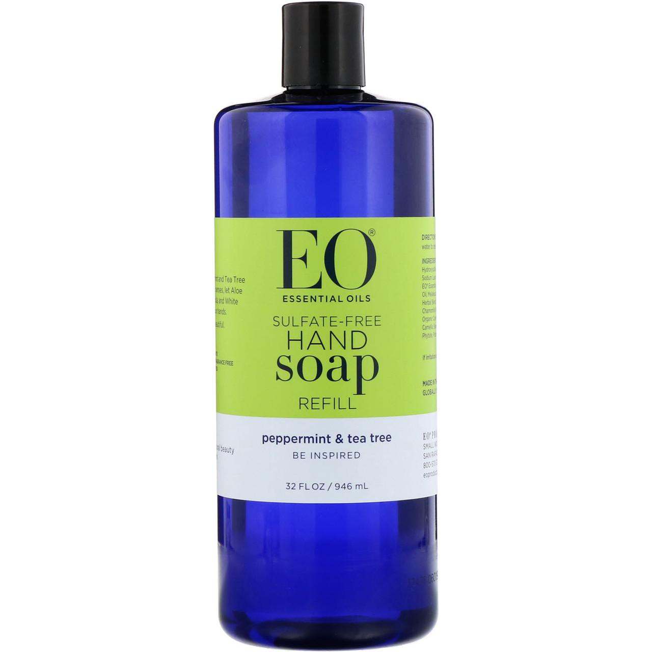 Мило для рук, м'ята і чайне дерево, EO Products, 960 мл