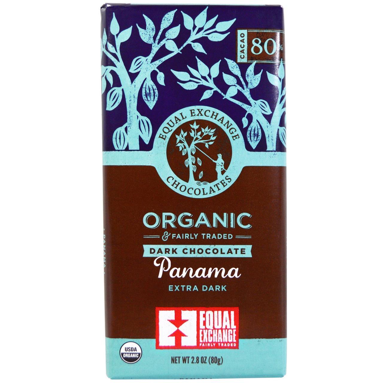 Панамский черный шоколад, Panama Extra Dark, Equal Exchange, 80 г