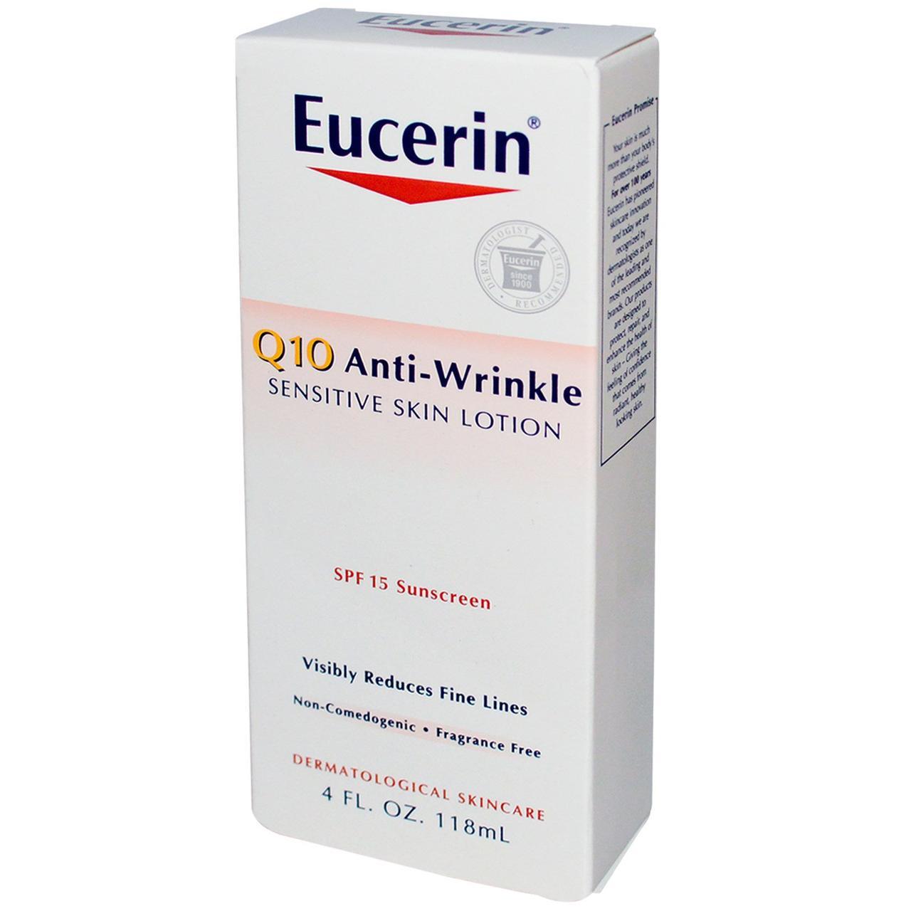 Солнцезащитный лосьон, Eucerin, Q10, SPF 15, 118 мл