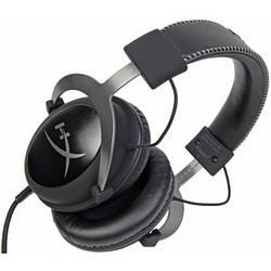 Накладні навушники дротові з мікрофоном Kingston HyperX Black Silver Cloud II