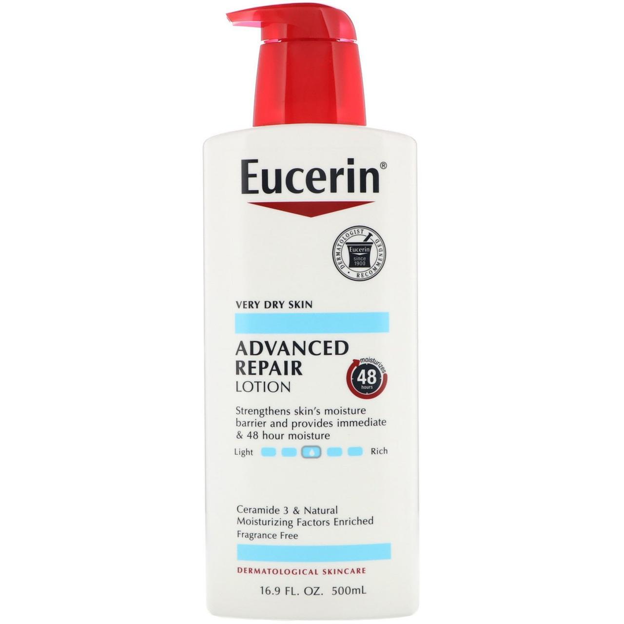 Восстанавливающий лосьон для сухой кожи, Eucerin, 500 мл