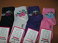 Детские  носочки Onurcan-  цветочек вышивка для   девочки 5-11 лет      Турция