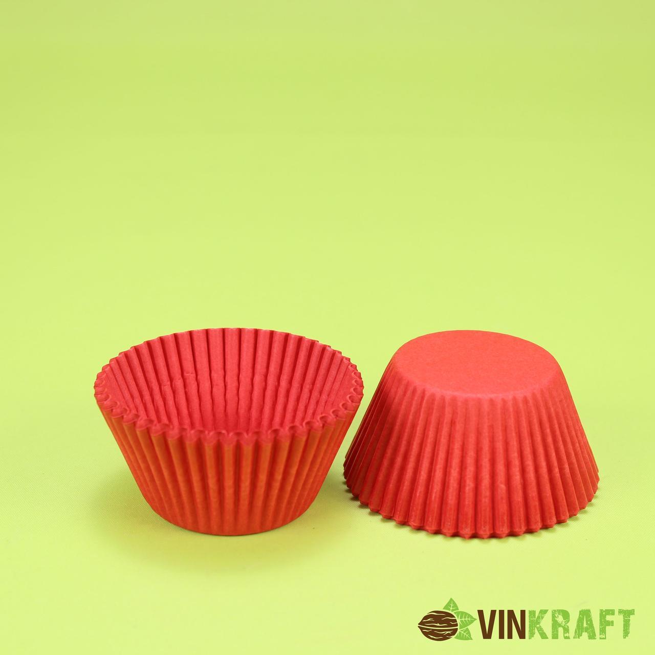 Паперова форма для кексів 125 (55х35), червона