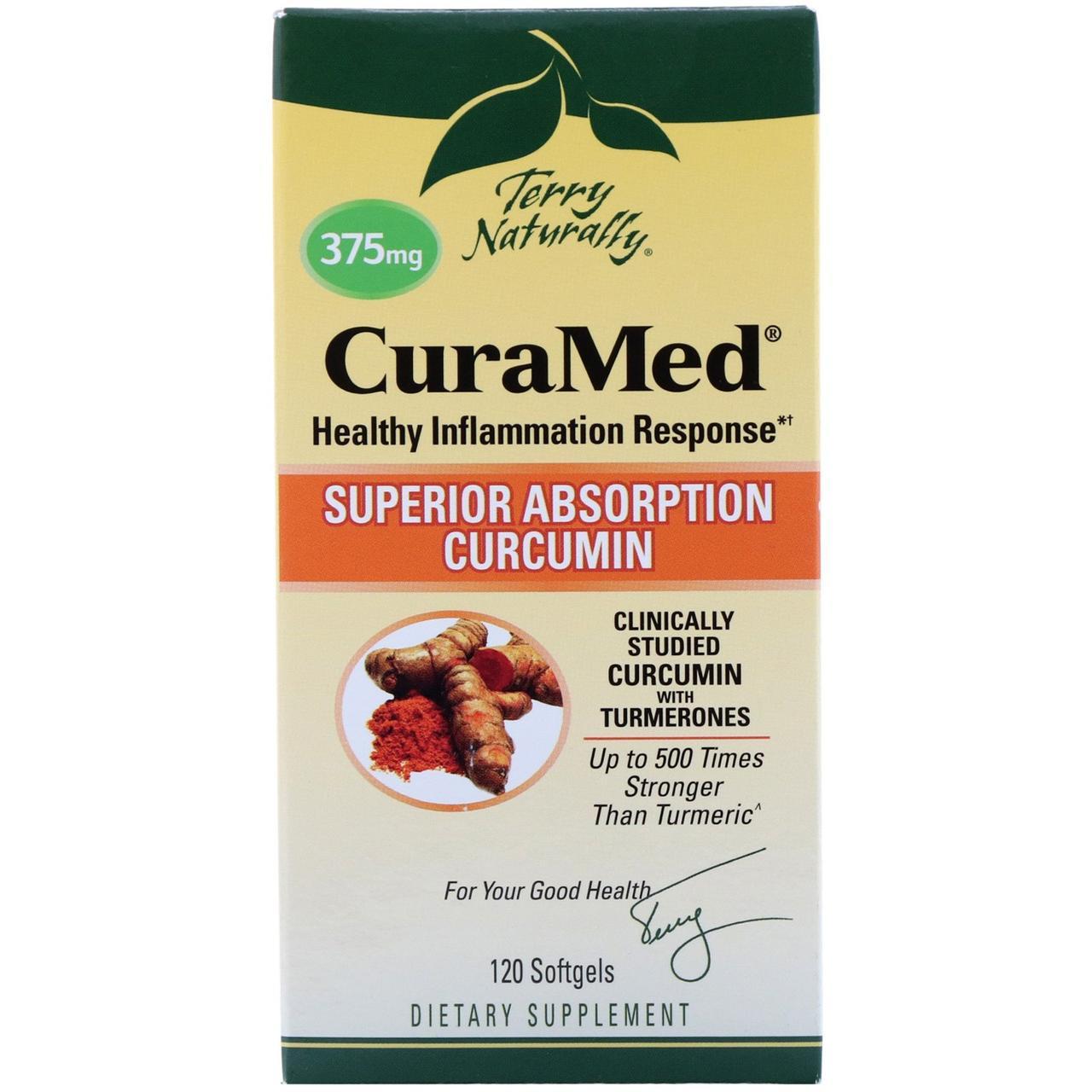 Курамед против воспаления CuraMed, 375 мг, EuroPharma, 120 капсул