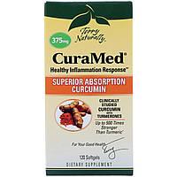 Курамед против воспаления CuraMed, 375 мг, EuroPharma, 120 капсул, фото 1
