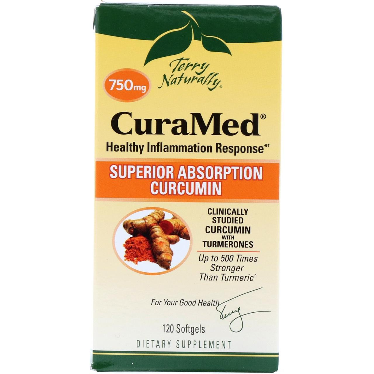 Курамед против воспаления CuraMed, 750 мг, EuroPharma, 120 капсул