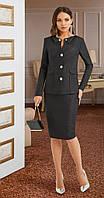 Платье Lissana-3870/1 белорусский трикотаж, темный графит, 54