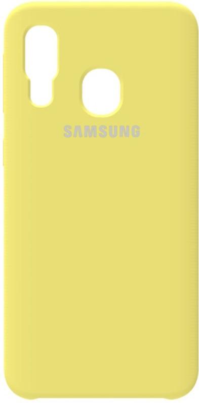 Чехол-накладка Samsung Silicone Case Galaxy A40 Lemon Yellow