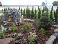 Озеленение объект с Семенивка, постройка грота с водоемом