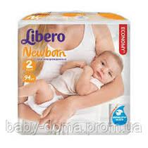 Подгузники Libero Baby Soft 2 ( 3-6 кг )  mini, Унисекс,  94 шт, Белый
