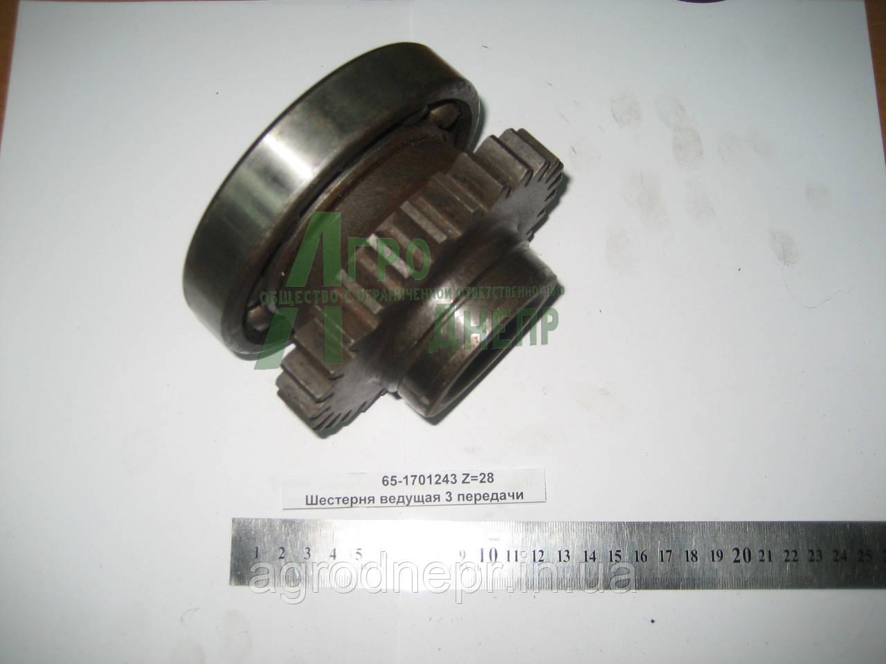 Шестерня с подшипником синхронизированой КПП ЮМЗ 75-1701320