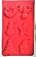 Новорічна асорті (ялинка, дід, віночок, сніговик) форма порційна на планшеті