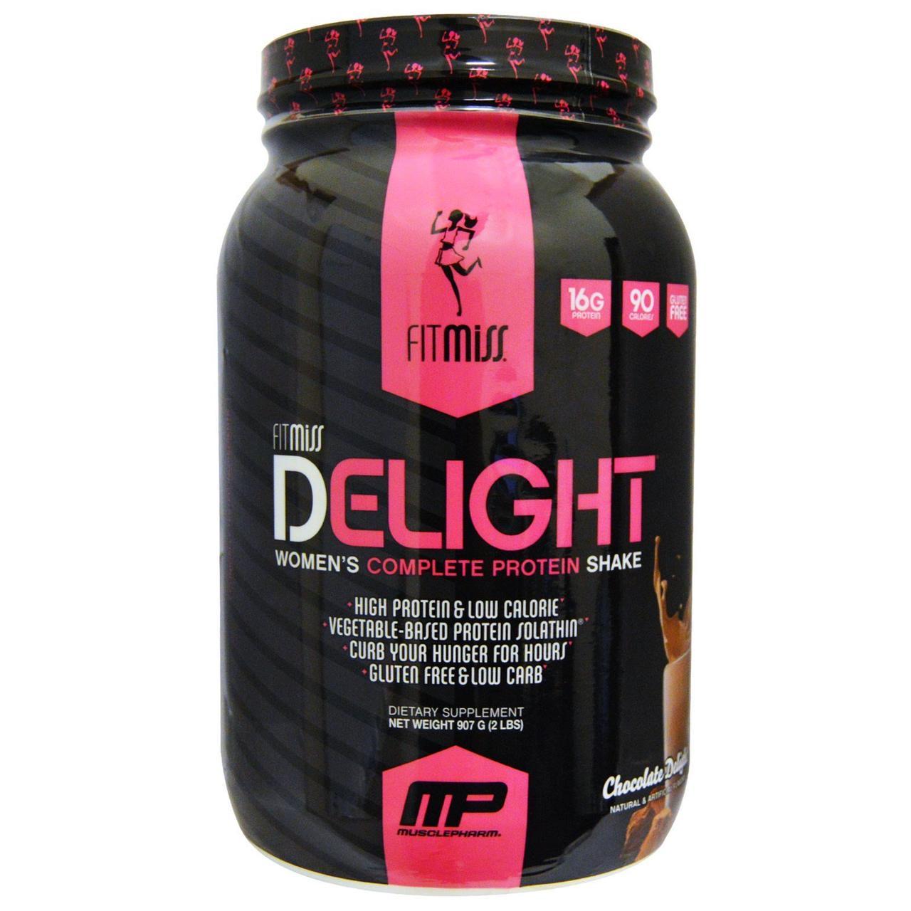FitMiss, Delight, полноценный протеиновый коктейль для женщин, шоколадный восторг, 2 фунта (907 г)