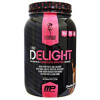 FitMiss, Delight, повноцінний протеїновий коктейль для жінок, шоколадний захват, 2 фунта (907 р)