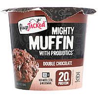 FlapJacked, Mighty Muffin з пробіотиками, подвійна порція шоколаду, 1,94 унції (55 г)