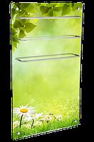 HGlass GHT 6010 фотопечать 650/325 Вт ИК стеклокерамический  полотенцесушитель-обогреватель 2 в 1