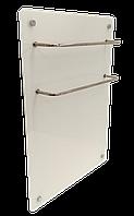 HGlass GHT 5070 белый 400/200 Вт ИК стеклокерамический  полотенцесушитель-обогреватель 2 в 1