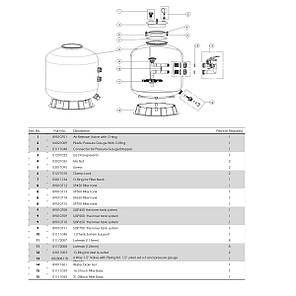 Фильтр Emaux SP700 (19 м3/ч, D703), фото 2