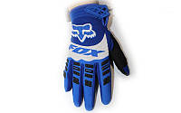 Мотоперчатки текстильные FOX M-4538-BLW 360 (закр.пальцы, р-р M-XL) Синий