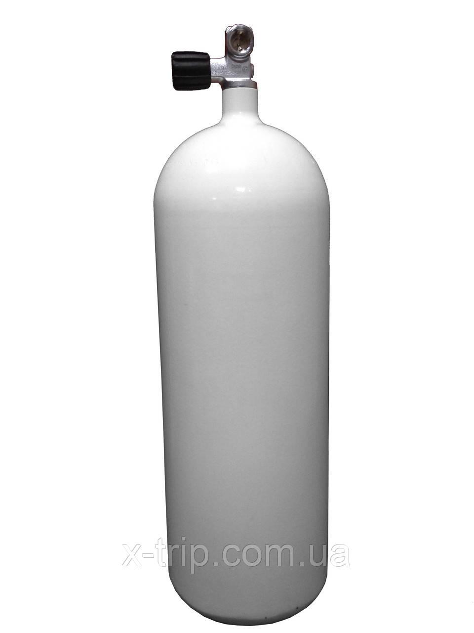 Баллон для дайвинга 15 литров 230 Bar, 171 мм с вентилем Concave