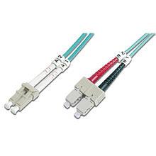 Оптический патч-корд FiberCord LC/UPC-SC/UPC, 50/125, OM3, duplex, 1м