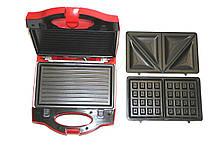 Сэндвичница WimpeX WX-1056 3в1 гриль бутербродниця вафельниця