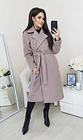 """Женское кашемировое пальто на запах """"COCO"""" с брошью и карманами (5 цветов)"""