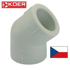 Уголок для полипропиленовых труб 25на 45° KOER