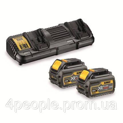 Зарядное устройство DeWALT DCB132T2  Li-Ion, 10.8 В/14.4 В/18 В/54 В + 2 аккумулятора DCB546 6 А*ч, фото 2