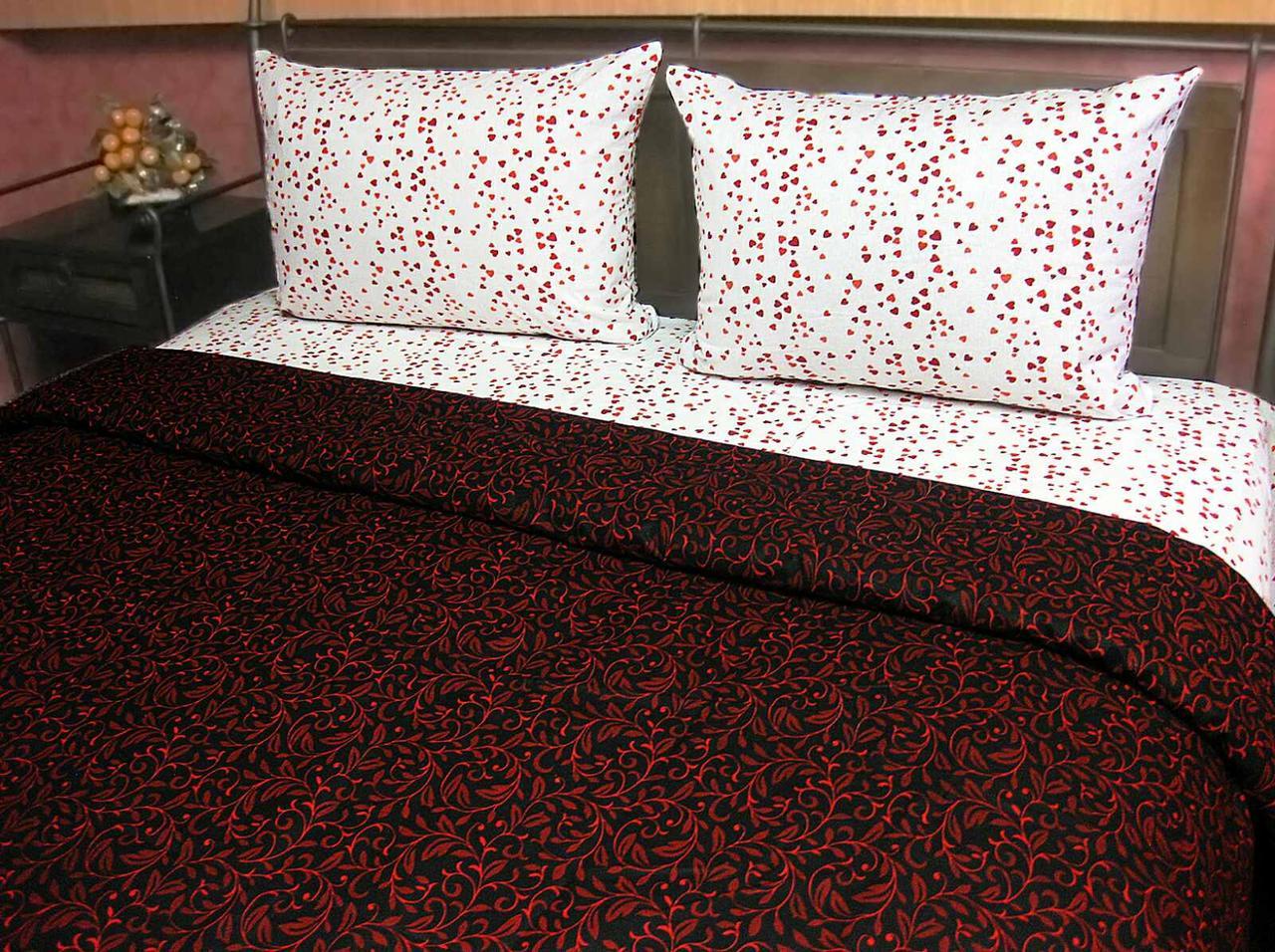 Комплект спального постільної білизни ТИРОТЕКС двоспальний Сатин - 100% бавовна