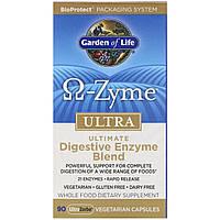 Пищеварительные ферменты, O-Zyme Ultra, Garden of Life, 90  кап.