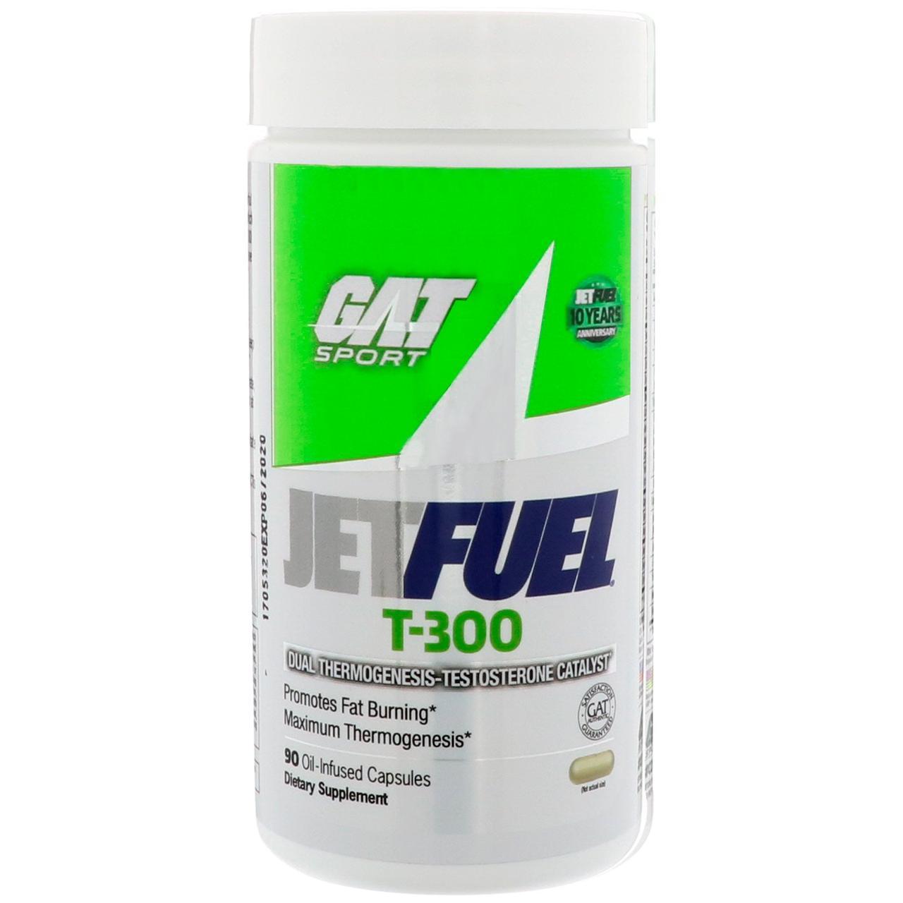 GAT, Реактивное топливо T-300, Двойной катализатор термогенеза и тестостерона, 90 капсул с маслом