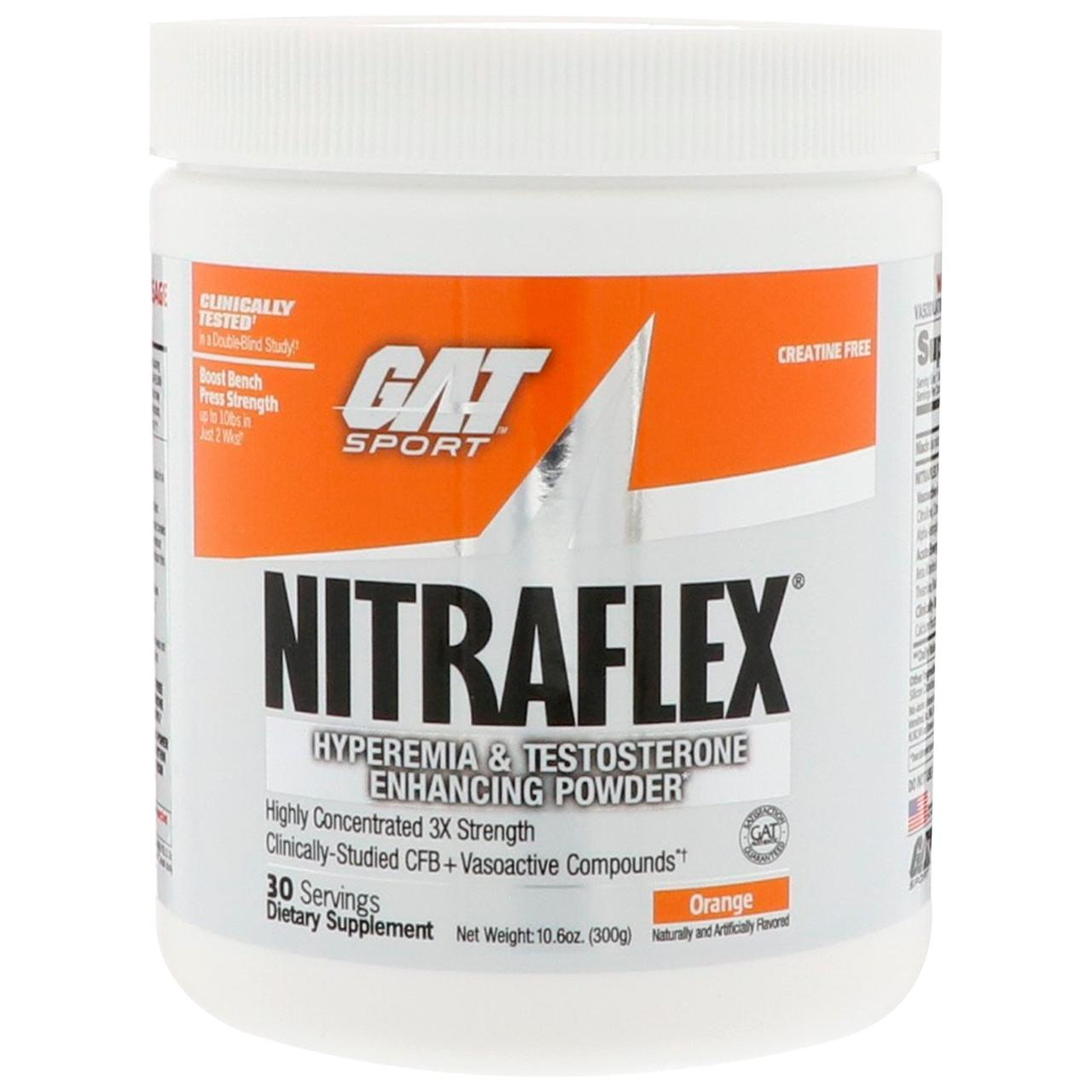 GAT, Нитрафлекс Апельсин, 10.6 унції (300 г)
